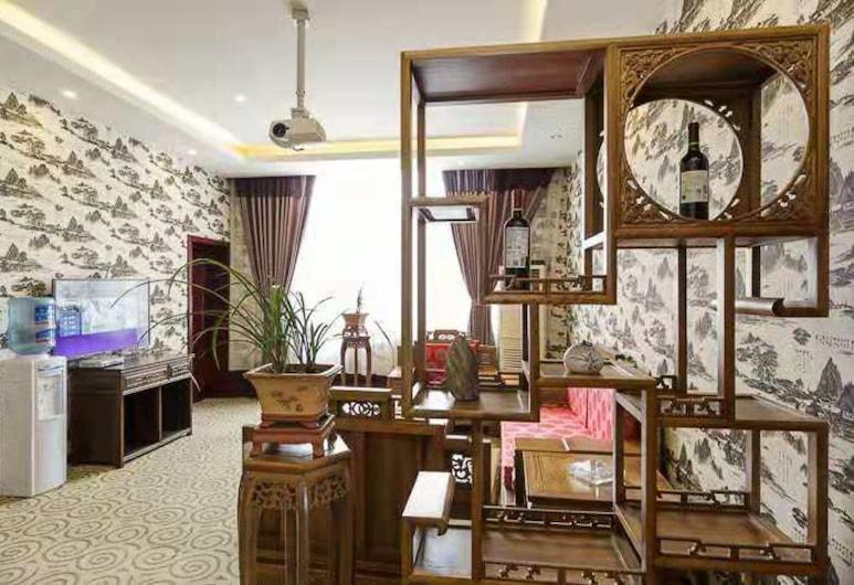Qingcheng Elegant Hotel, Čengdu, Liukso klasės numeris, Svečių kambarys