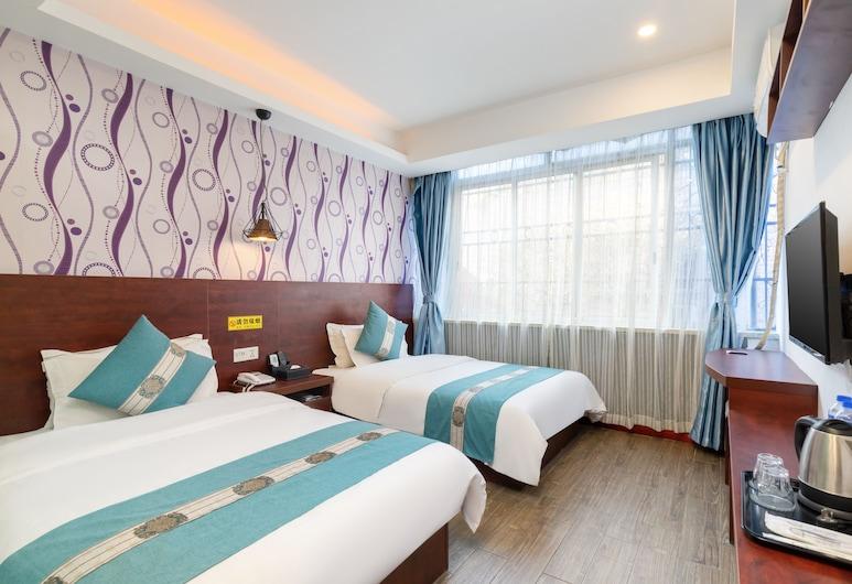 Yimi Hotel Guangzhou Exhibition Center, Guangdžou, Verslo klasės dvivietis kambarys (2 viengulės lovos), Svečių kambarys