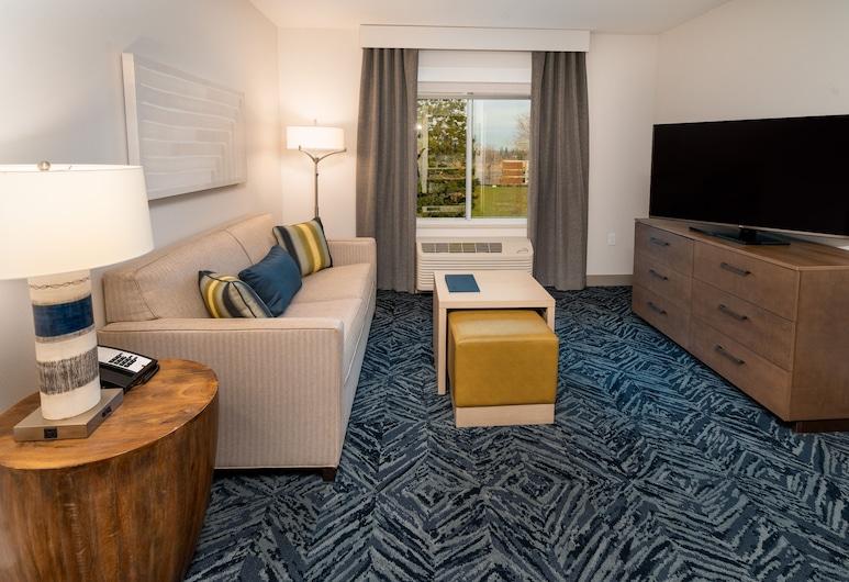 Homewood Suites by Hilton Rancho Cordova Sacramento, Rancho Cordova, Suite, 2 letti queen, accessibile ai disabili (Roll-In Shower), Area soggiorno