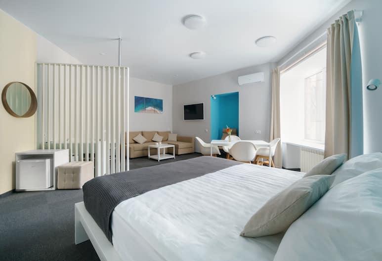 Steps Hotel, San Pietroburgo, Camera familiare, 1 letto king con divano letto, Camera
