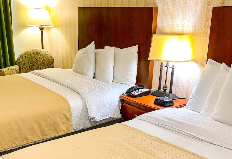 American Inn Lee, Lee, Zimmer, 2Queen-Betten, Nichtraucher, Kühlschrank und Mikrowelle, Zimmer