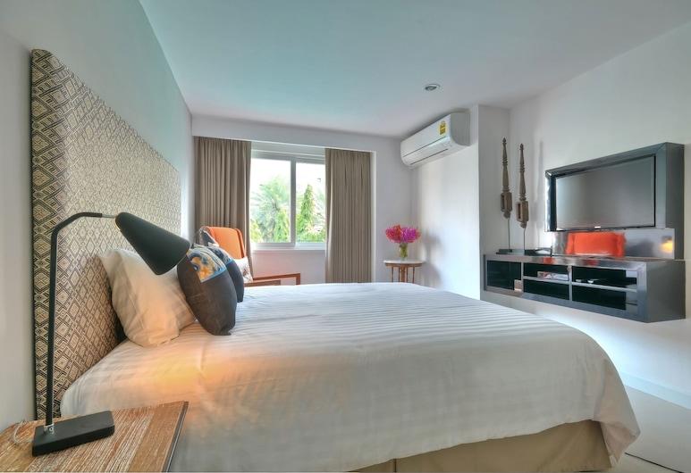 Sleep on Saladaeng, Bankokas, Deluxe Triple Room, Svečių kambarys