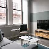 Apartmán typu Deluxe, 1 spálňa, terasa - Obývačka