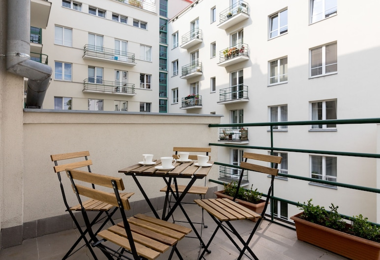 Vistulan Boulevards Apartment, Varšava, Dzīvokļnumurs ar papildu ērtībām, Balkons