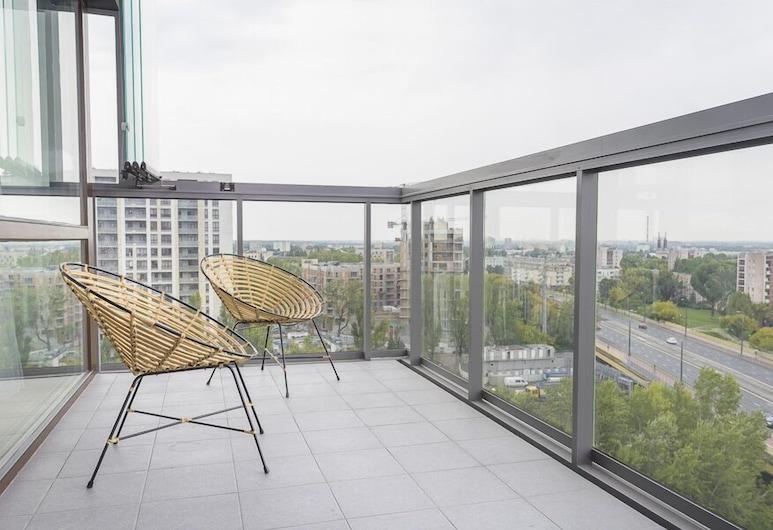 Novis Apartments Panorama View, Varšava, Apartmán typu Exclusive, Balkón