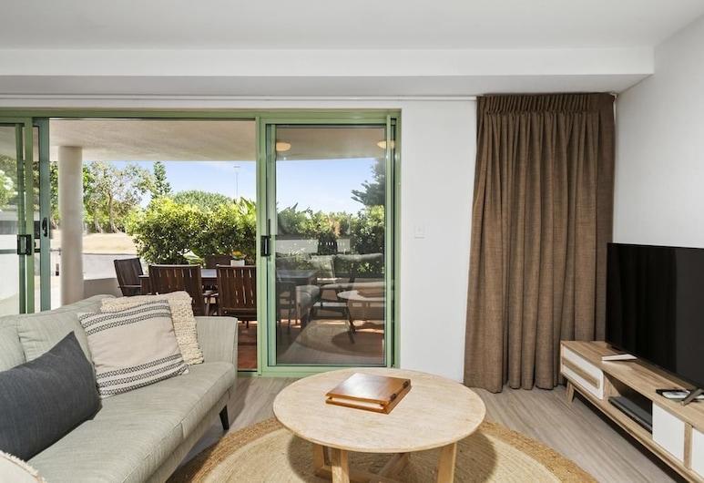 Your Luxury Escape - Karinya at Surfside, Byron Bay, Apartamento, 3 habitaciones, vistas al mar, Sala de estar