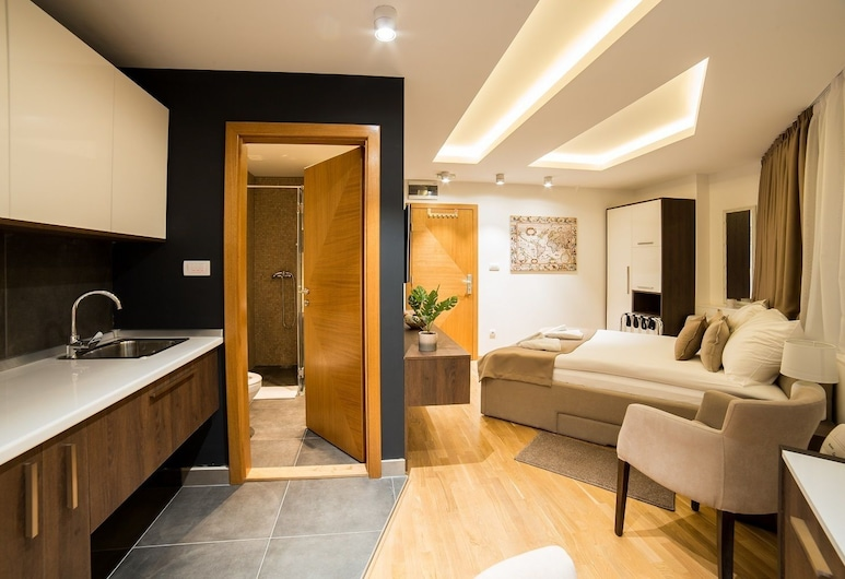 Luxury Apartments- Belgrade Center, Belgrad, Apart Daire (3), Özel küçük mutfak