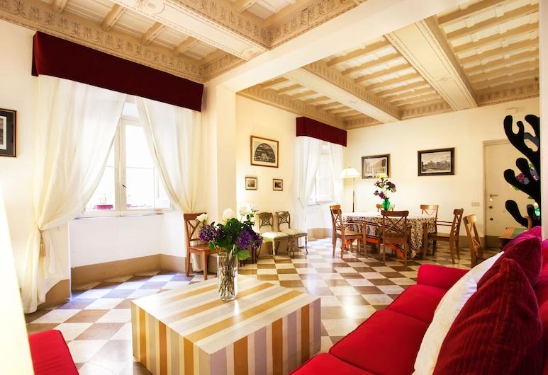 Passeggiata di Ripetta, Splendid Comfortable Apartment With 2 Bedrooms and 2 Bathrooms - A/c-wi-fi, Rome, Apartment, 2Schlafzimmer, Wohnzimmer
