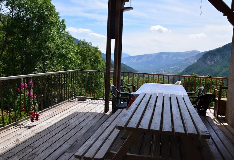 House With 2 Bedrooms in Colmars, With Wonderful Mountain View, Furnished Terrace and Wifi, Colmars, Balkon