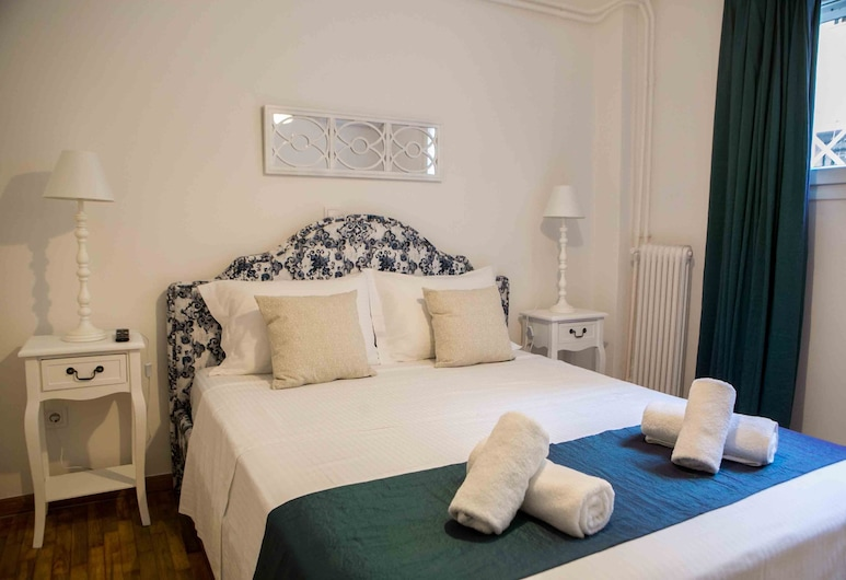 Best House Kolxidos Ampelokipoi Metro, Athen, City-lejlighed - 1 dobbeltseng med sovesofa - køkken - byudsigt, Værelse