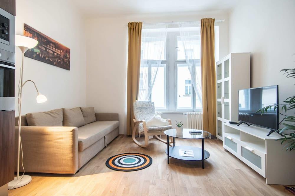 Departamento, 1 cama King size con sofá cama (Rybalkova 6) - Sala de estar
