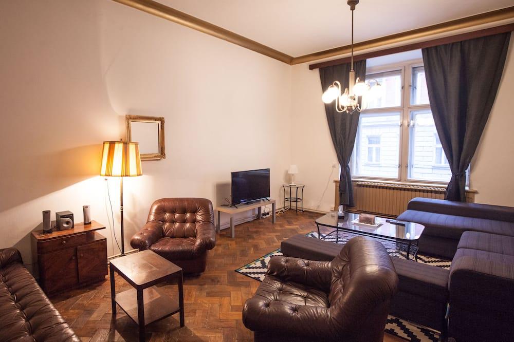Apartment, Multiple Beds (Manesova 10) - Living Room