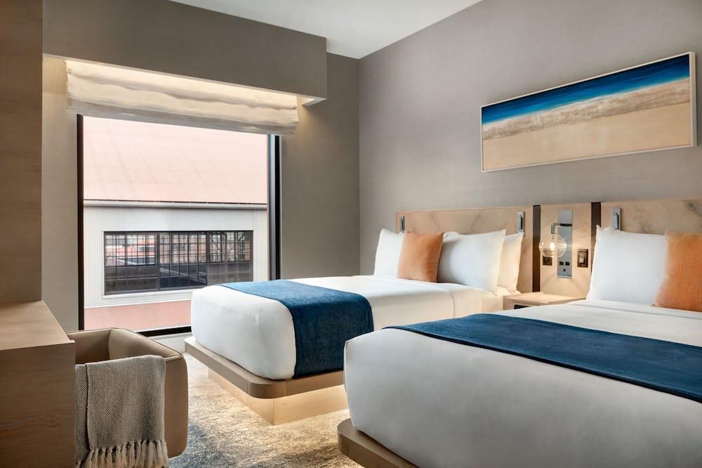 Liukso klasės dvivietis kambarys, 2 standartinės dvigulės lovos - Vaizdas į miestą