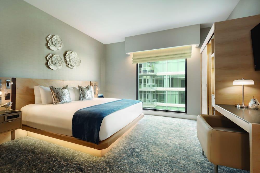 Liukso klasės kambarys, 1 didelė dvigulė lova - Vaizdas į miestą