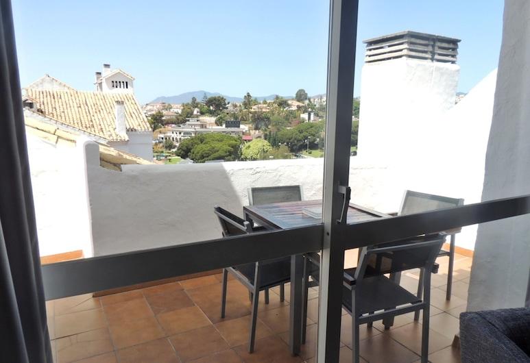ホテル PYR にあるアパルタメント スイート, マルベラ, アパートメント 1 ベッドルーム テラス, テラス / パティオ