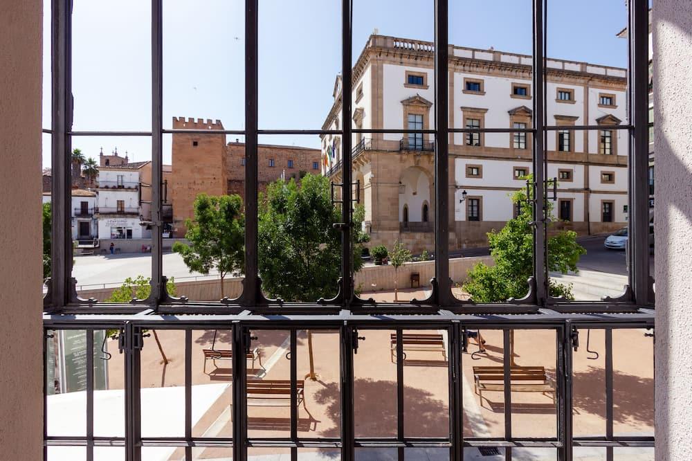 Deluxe appartement, 1 slaapkamer, Uitzicht op de stad - Balkon
