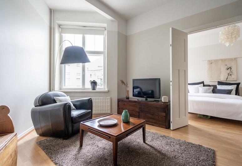 Roost Hietaniemenkatu, Helsinki, Apartment, 1 Bedroom (Queen Bed and Bunk Bed for Kids), Living Room