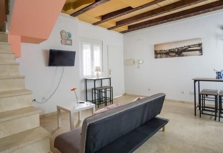 RentalSevilla Confortable y céntrico dúplex, Sevilla, Maisonette, 2Schlafzimmer, Terrasse, Wohnzimmer