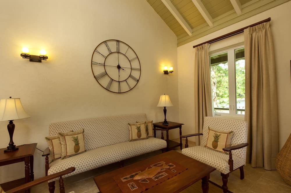 行政套房, 2 張加大雙人床, 河景 - 客廳