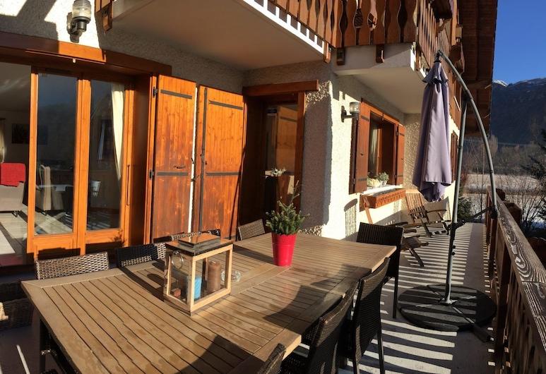 Les Chalets Carpe Diem, Le Bourg-d'Oisans, Chalet, balcon, vue montagne (Carpe Diem), Terrasse/Patio