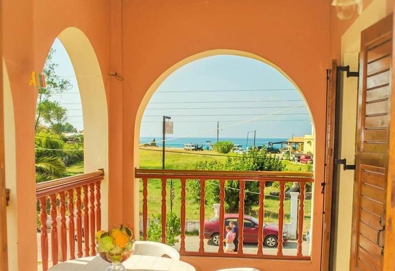 Yanna's Apartments, Κέρκυρα, Διαμέρισμα, Θέα στη Θάλασσα (for 3), Θέα από το μπαλκόνι