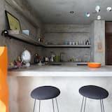 Apartamentai, 1 miegamasis, terasa - Vakarienės kambaryje