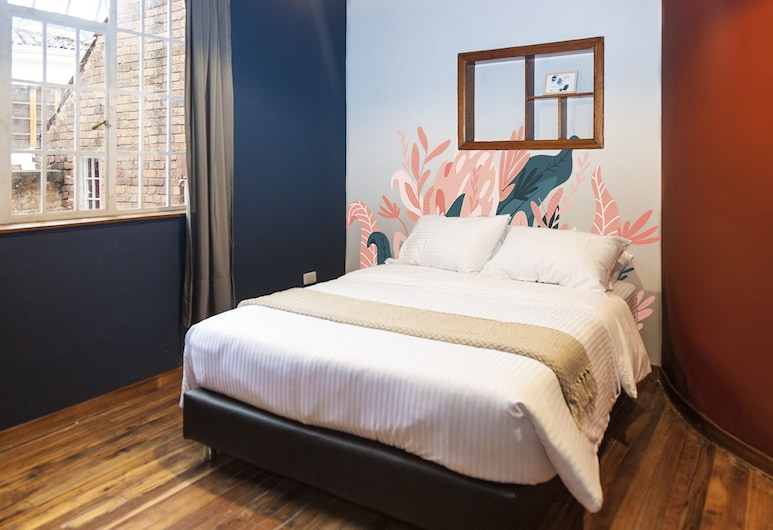 Hostel Bandido, Богота, Стандартный двухместный номер с 1 двуспальной кроватью, 1 двуспальная кровать «Квин-сайз» (II), Номер