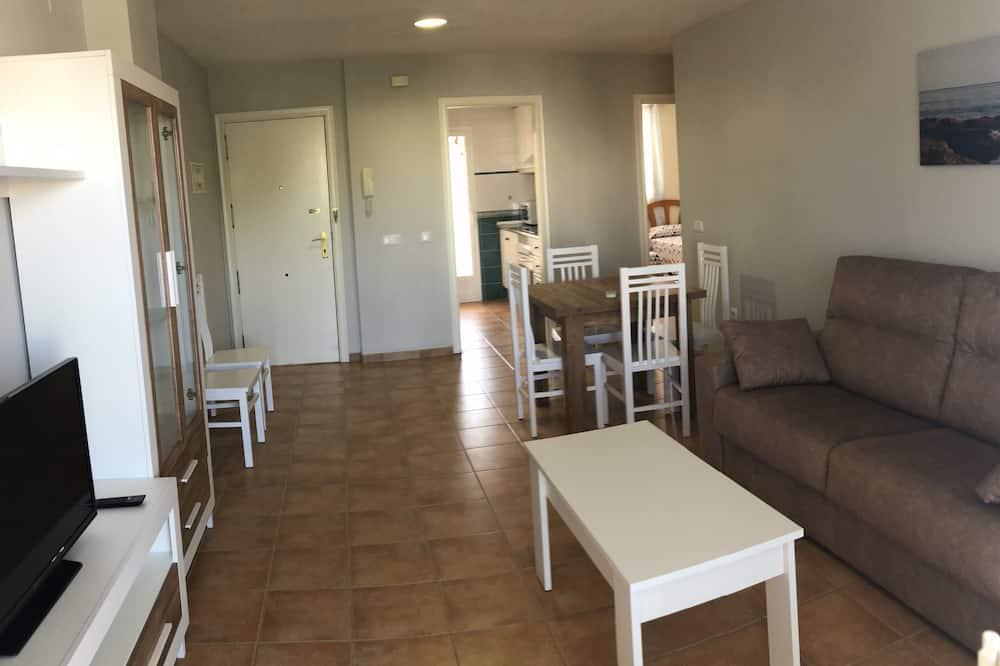 Appartamento, 2 camere da letto, vista montagna - Area soggiorno