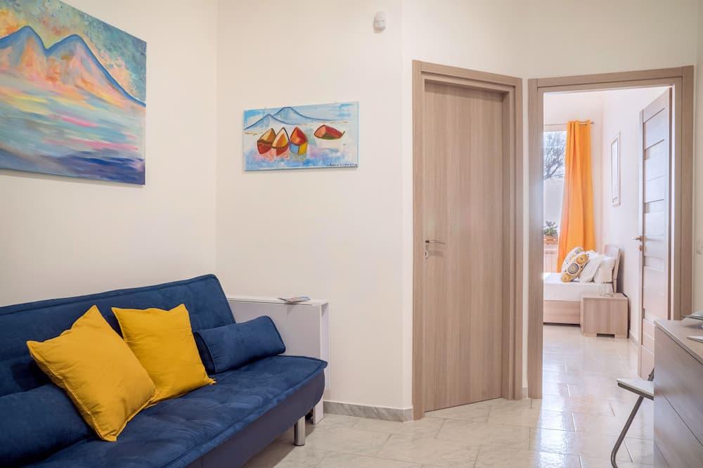 Classic Apartment, Sea View (Miseno) - Living Area