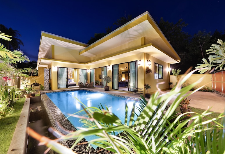 班普塔拉薩 3 房別墅酒店 - 附私人泳池, 蘇梅島, 住宿正面 - 夜景