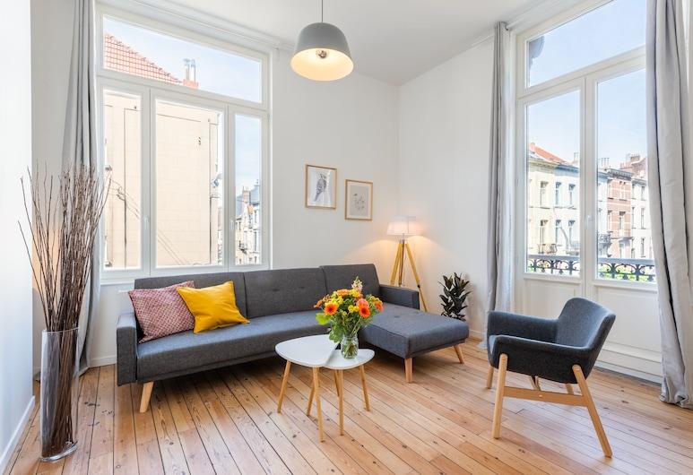 Europea Magritte Residences - Brussels EU, BRUSEL, Apartmán typu Premium, Obývačka