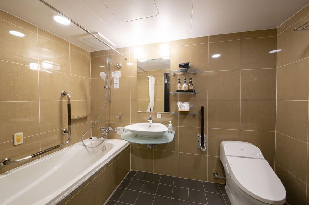 禁煙 デラックスダブル 170㎝幅ベッド1台 17平米 2名様迄 - バスルーム