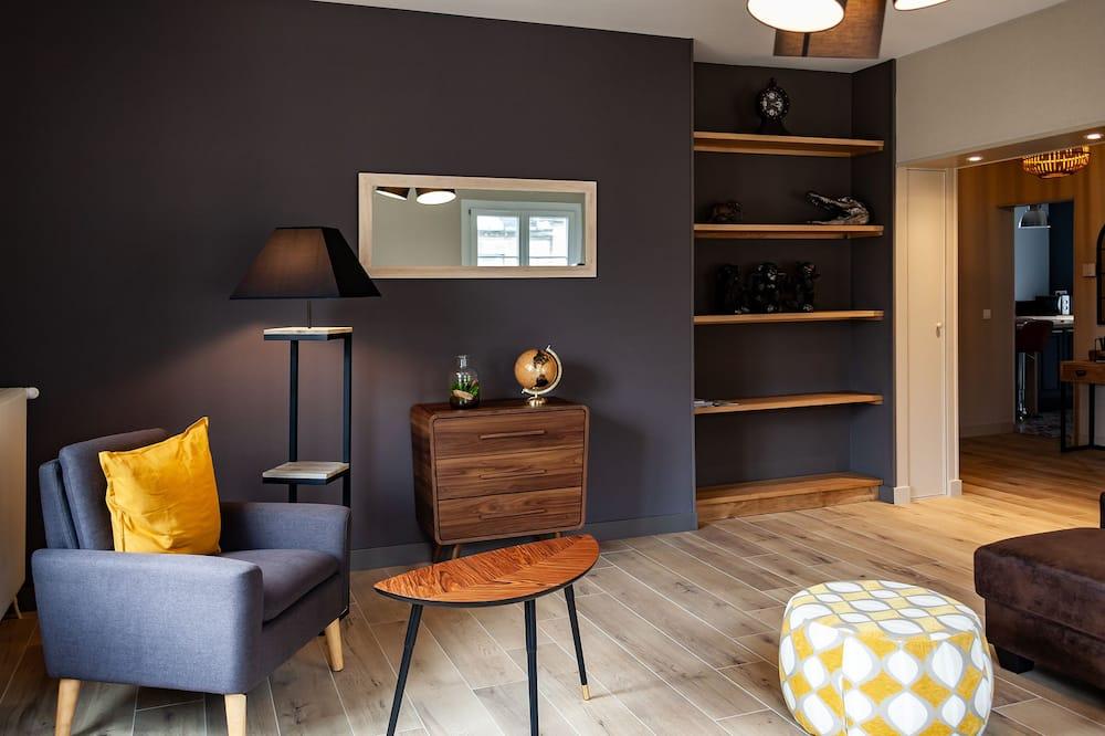 Căn hộ Deluxe, Phòng tắm riêng, Quang cảnh thành phố - Lounge