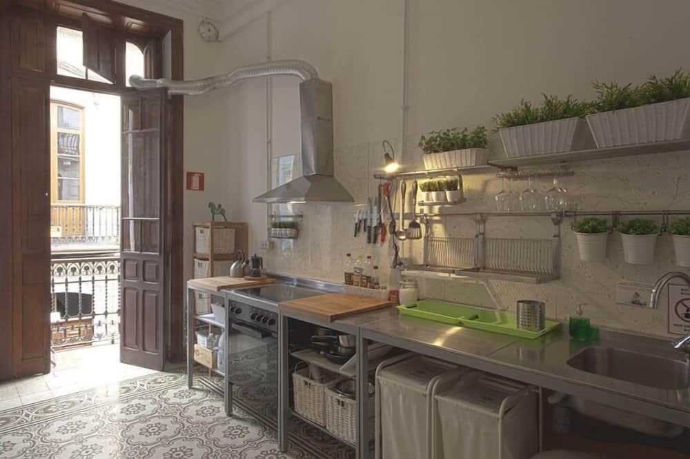 Fælles sovesal - mænd/kvinder - fælles badeværelse (1 bed in a 8-Bed Dormitory Room) - Fælles køkken