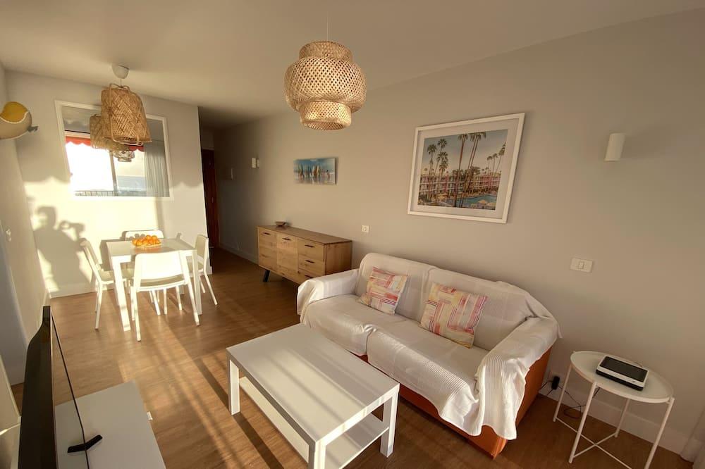 Appartement, 2 slaapkamers, Uitzicht op zee - Woonkamer
