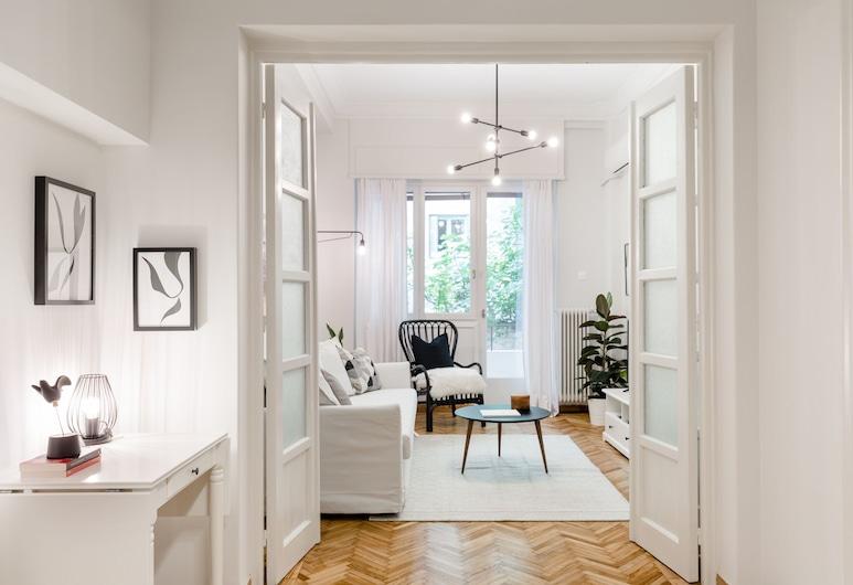 UPSTREET Classy Apartments, Atenas, Apartamento (Luminous), Sala