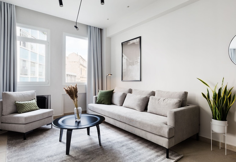 UPSTREET Luxury Apartments in Plaka, Athens, Apartment, 1 Bedroom (A), Living Area