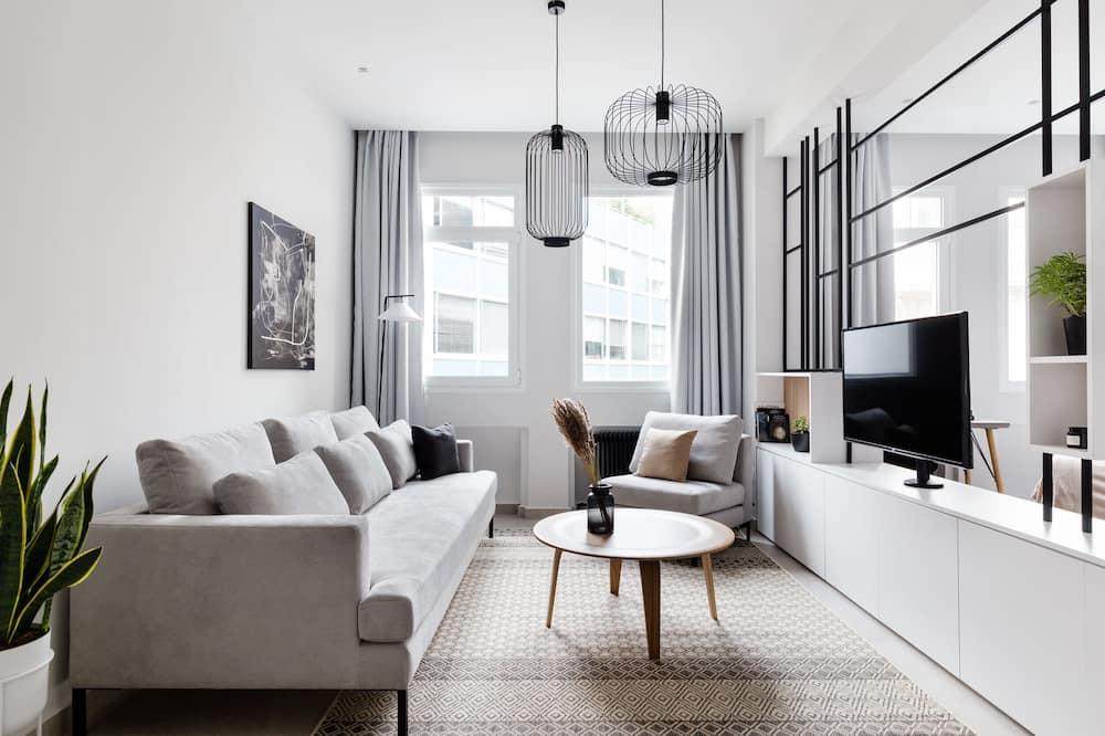Apartamento, 1 quarto (B) - Área de estar