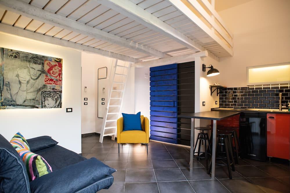 Junior-studiosuite - balkon (Orange) - Opholdsområde