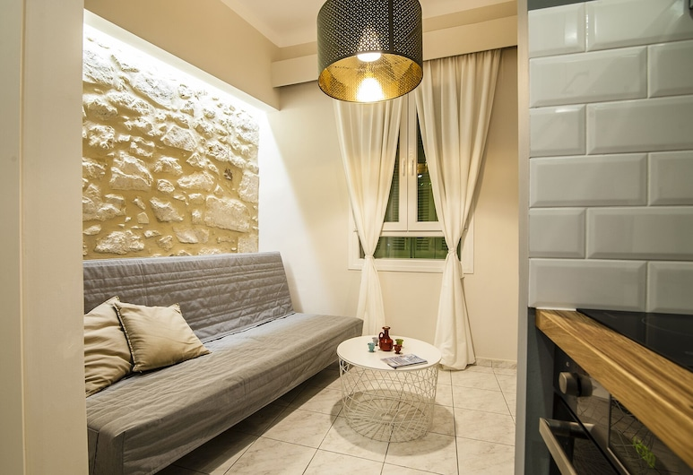 The Central Boutique Αpartments, Heraklion , Business Apartment, Ruang Tamu