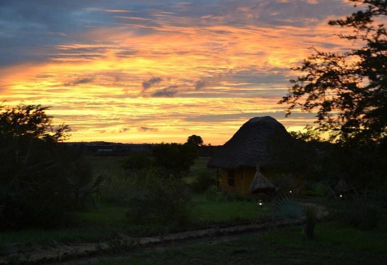 Twiga Tales Safari, Pakwach, Majoitusliikkeen julkisivu illalla