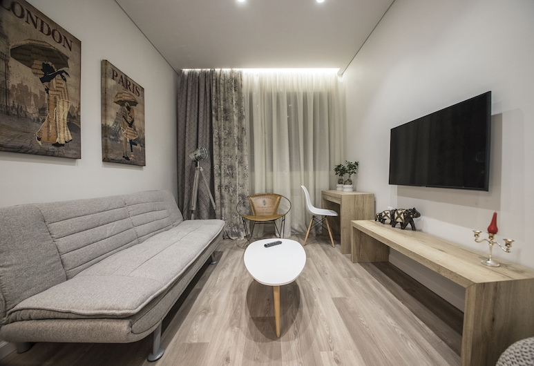 Ornament Suites Nilie Hospitality MGMT, Thessaloniki, Deluxe appartement (1), Woonruimte