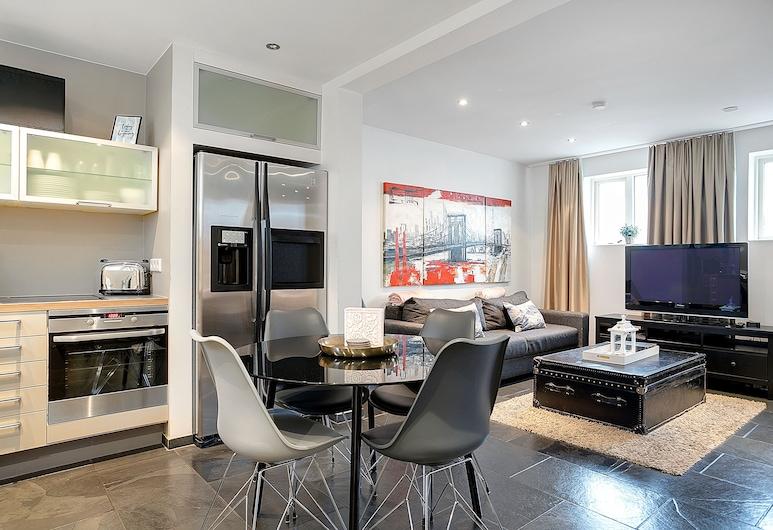 市中心魅力酒店 - 索爾馬克拉達 72 號, 雷克雅未克, 公寓, 1 間臥室 (Laki), 客廳