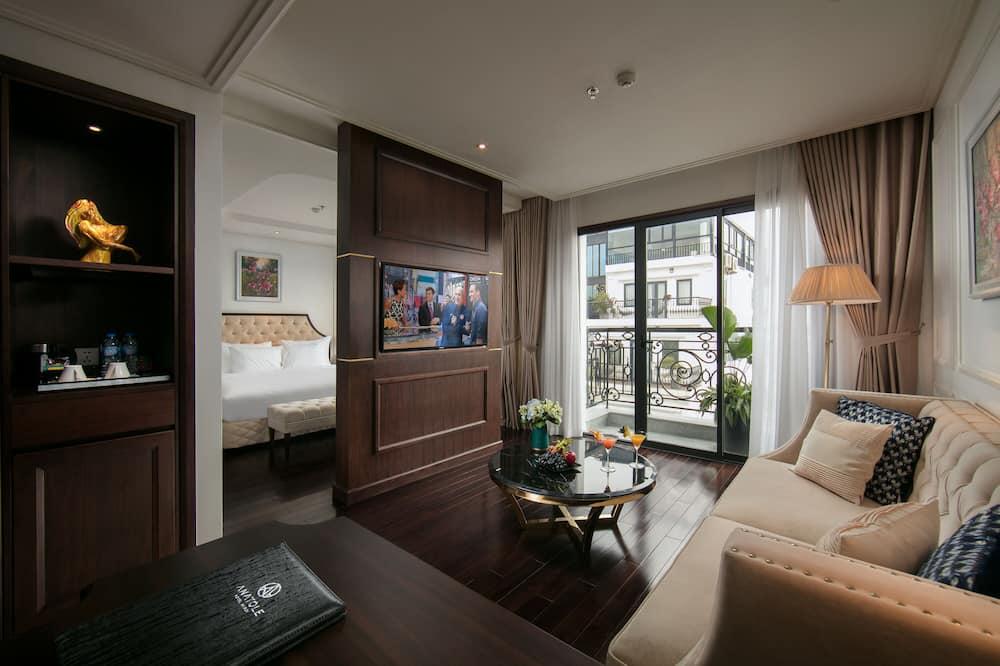 Apartmán, balkón, výhľad na mesto - Obývacie priestory