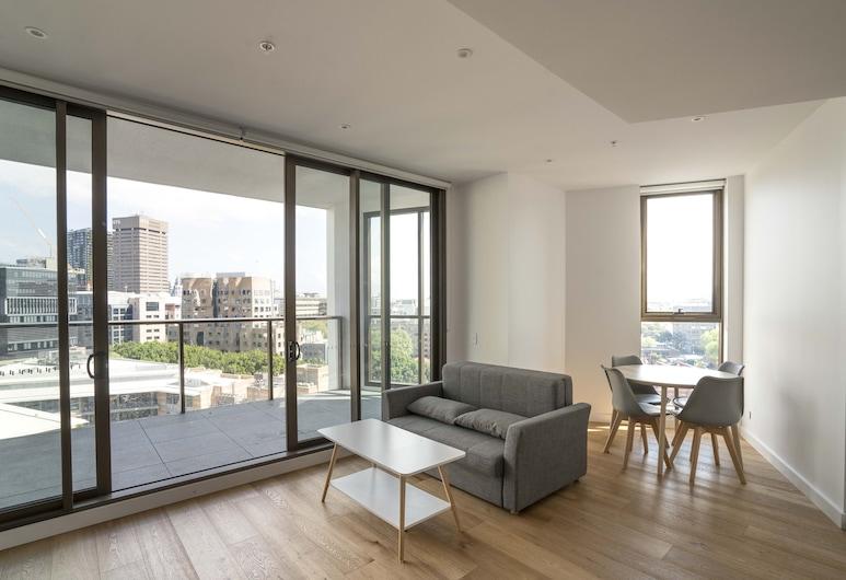 Modern Apartment in Darling Harbour, Haymarket, Luxury Apartment, 1 Bedroom, Living Area
