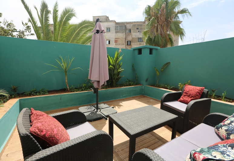 Mon casablanca , Καζαμπλάνκα, Deluxe Διαμέρισμα, 2 Υπνοδωμάτια (Bahia), Αίθριο/βεράντα