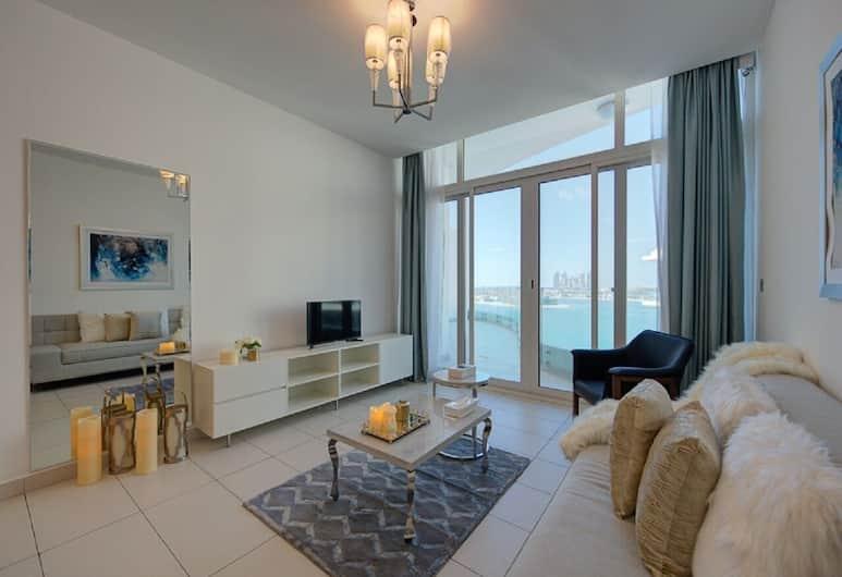 Airbetter- Dubai Palm Royal Bay Sea Face, Dubajus, Apartamentai, 1 miegamasis, Svetainės zona