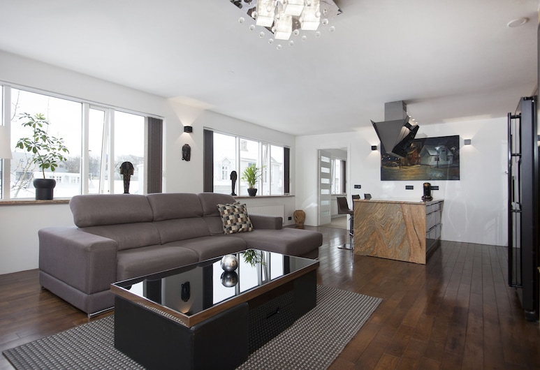 Bella's Apartments, Reykjavik, Superior Apartment, 2 Bedrooms, Living Area
