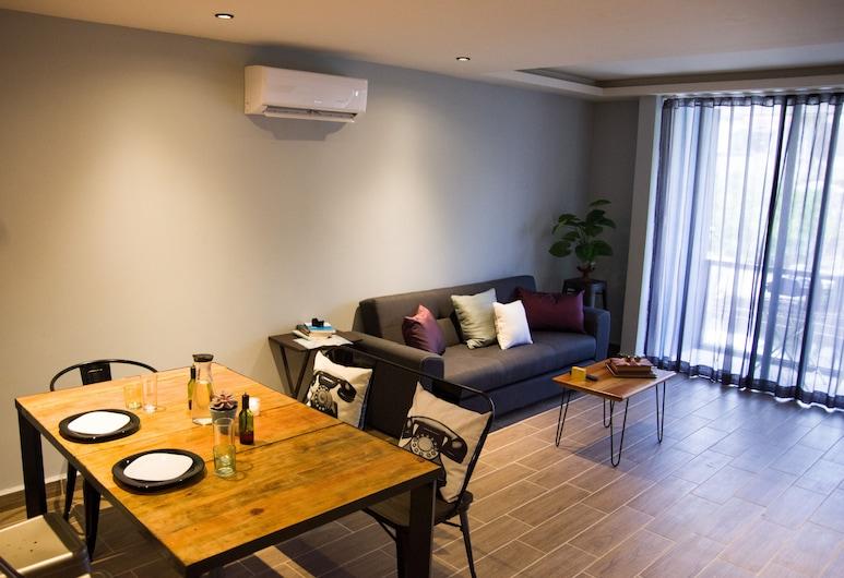 손더 어반 스테이, 플라야 델 카르멘, 비즈니스 아파트, 거실 공간