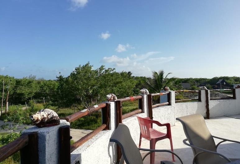 La maison ronde Habita, Isla Holbox, Balcon